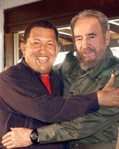 Fidel Castro y Hugo Chávez Fidel Castro, Vladimir Putin, Barack Obama, Latina, Che Guevara, Viva Cuba, Political Leaders, Great Leaders, Bill Gates