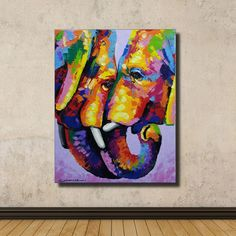 Colorful Elephant Painting,76 cm(H) x 60 cm(W) by SumareeART on Etsy