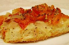 Amateur Cook Professional Eater - Greek recipes cooked again and again: Ladenia - The Greek Pizza! Pasta Recipes, Vegan Recipes, Dessert Recipes, Cooking Recipes, What's Cooking, Desserts, Greek Meze, Greek Pizza, Food Collage