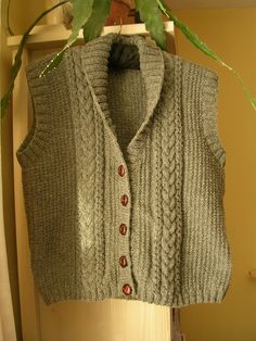 Ravelry: Project Gallery for Shawl Collared Waistcoat pattern by Hayfield
