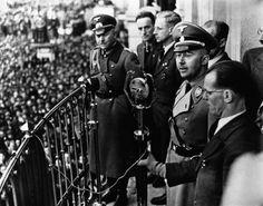 Himmler speaks (Linz, Austria, 1938?).