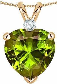 Peridot Teardrop Pendant Silver Marcasite Olive Green