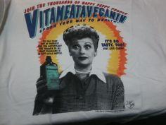 I Love Lucy Vitameatavegamin T-Shirt - 1992 - XL - Never Worn