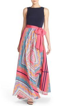 Ellen tracy maxi dress long orange