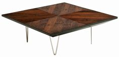 """Urban Rustic Collection Coffee Table Design #5 Item Number: CT03127 44"""" x 44"""" x 15""""H Custom Sizes Available 10 Standard Reclaimed Wood Finish Options Please Email or Call for Current Pricing"""