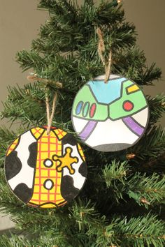 Handmade Toy Story Themed Christmas Ornaments by PaintandPly, $10.00//diy