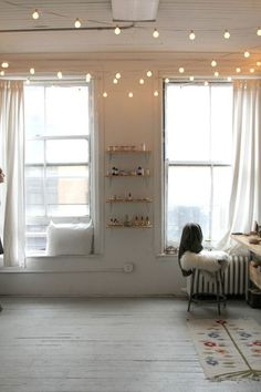 Decorating With Hanging Globe String Lights Indoors #interiors #design