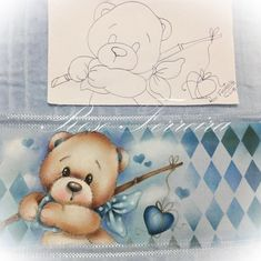No photo description available. Baby Painting, Fabric Painting, Baby Drawing, Drawing For Kids, Cute Baby Elephant, Cute Bears, Valentine Day Cards, Beautiful Babies, Pretty Pictures