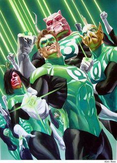 Cuerpo de Linternas Verdes por Alex Ross