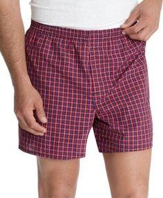Hanes Mens 5-Pack Classics Tartan Boxer Underwear- Colors May Vary #men #mensunderwear #underwear #sexy