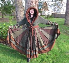 Patchwork Gypsy Traveler Fairy Coat - Upcycled Recycled Sweaters ...