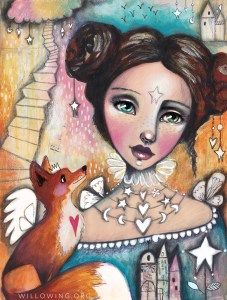 Willowing -- Tamara Laporte is AMAZING! Each year she gets better and better. Kunstjournal Inspiration, Art Journal Inspiration, Portrait Art, Portraits, Online Art Classes, Fox Girl, Art And Illustration, Face Art, Art Faces