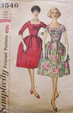 1960s Cocktail Evening Party DRESS Square by BluetreeSewingStudio, $39.00