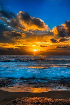 Sunset over the pacific ocean | by David