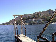 "Mismaloya rusty pier. Right at the film set of ""Night of the Iguana."""