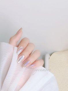 Aurora Nails, Korean Nail Art, Kawaii Nails, Cat Eye Nails, Nail Jewelry, Neutral Nails, Dream Nails, Bridal Nails, Stylish Nails