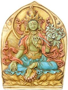 Green Tara relief stone finish, Reliefs & Wall Hangings