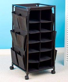 Shoe Rack Storage Cubbie Rolling Portable Space Saver Closet Organizer Cart NEW