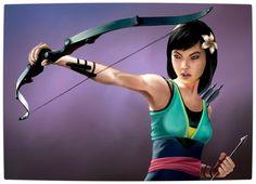 Vamers - Artistry - Disney Princesses Imagined as The Avengers - Mulan as Hawkeye