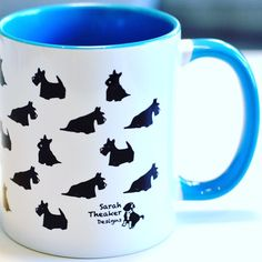 Our Scottish Terrier Scottie Dog mug is now available to buy from our Etsy shop