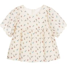 Chloé - Girls Ivory Broderie Anglaise Blouse |