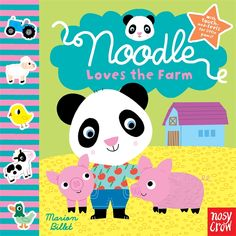 Join Noodle as he visits a farm and plays with his toys that go vroom! Here are two more titles in this bright, robust series of high-quality touch-and-feel board books for babies and young toddlers. Each features stylish art, a simple rhyming text, a tactile element on every spread, and a mirror on the final page of each book. Board Book 9780763662752 / Ages 1-3