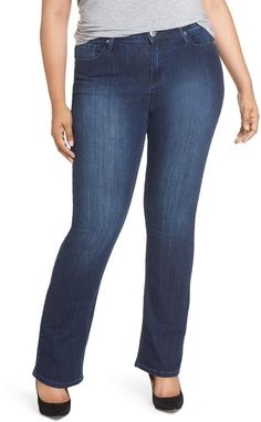 77ff81783 Plus Size Women s Seven7 Rocker Flap Pocket Slim Bootcut Jeans