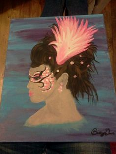 Hair show painting