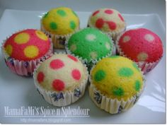 Polka Dot Cupcakes recipe and directions. I don't even like cake, but this is adorable
