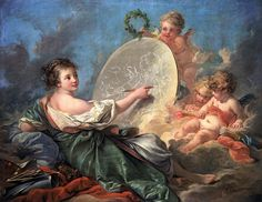 Allegory of Painting (1765) by François Boucher     Oil on canvas, 102 x 130 cm    National Gallery of Art, Washington