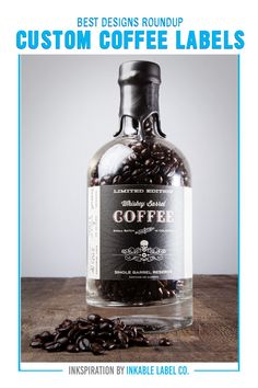 PLUS PRO DESIGN TIPS. Packaging carries the heart of your brand. For big inspiration, here are some of the best custom coffee label designs we've seen! Custom Packaging, Custom Labels, Coffee Label, Decaf Coffee, Packaging Design Inspiration, Label Design, Best Coffee, Vodka Bottle, Whiskey