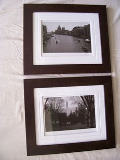 "Authenticated Pair of J.Kalisher Photographs ""WASHINGTON,DC & VENICE Italy"" black/white  16.5 x 14 each one - framed by LIZ404 on Etsy"