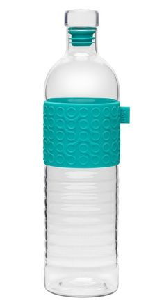 With Blue Silicone protector GoGreen Glass Sports Bottle for Juice and Water 16oz BPA Free