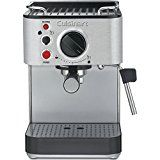 Cuisinart 15-Bar Stainless Steel Espresso Maker - Refurbished (EM-100fr) with Aroma Stainless Steel One Serving Milk Frother