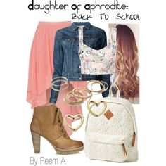 Daughter Of Aphrodite Back To School Outfit, Cabin 10, Percy Jackson Inspired Outfit
