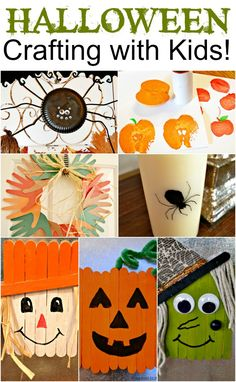 Last minute Halloween Crafting With Kids! Round Up ... Crafts that take 30 minutes or less.