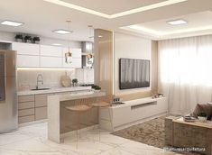 Kitchen Room Design, Modern Kitchen Design, Home Decor Kitchen, Modern House Design, Home Kitchens, Bedroom Built In Wardrobe, Kitchen Layout Plans, Tiny House Bedroom, Small Apartment Interior