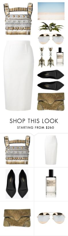 """Egypt"" by lysianna ❤ liked on Polyvore featuring FAUSTO PUGLISI, Roland Mouret, Yves Saint Laurent, D.S. & DURGA, Alexander McQueen, Christian Dior, Desert, metallic, queen and egypt"