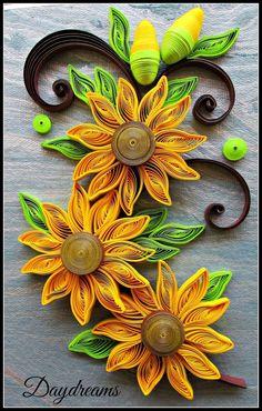 Bildergebnis für quilling sonnenblume basteln