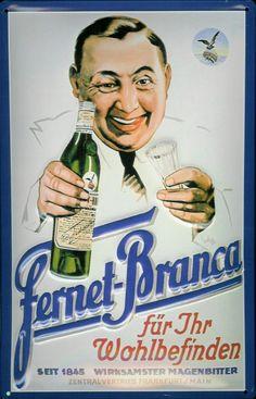Vintage poster: Fernet-Branca für Ihr Wohlbefinden