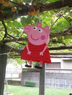 Piñata pepa Peppa Pig Pinata, Fiestas Peppa Pig, Cumple Peppa Pig, Peppa Pig Imagenes, George Pig Party, Aniversario Peppa Pig, Clown Party, 3rd Birthday Parties, Pig Birthday