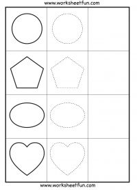 Shape Tracing – 3 Worksheets