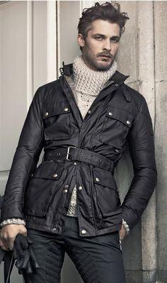 I don't know just looks cool! Sharp Dressed Man, Well Dressed Men, Looks Style, Looks Cool, Waxed Cotton Jacket, Moda Formal, Gentleman Style, Autumn Winter Fashion, Fall Fashion
