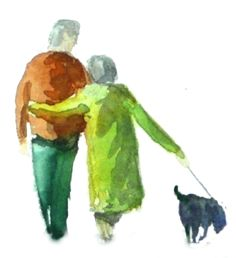 Couple, are you afraid to add people to your painting. Good demo.
