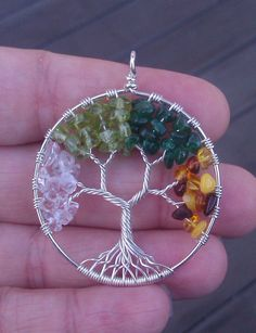 Four Seasons Tree of Life Pendant by ethora on Etsy