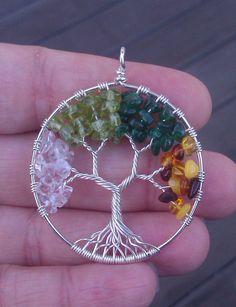 Pendentif arbre de vie 4 saisons par ethora sur Etsy