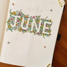 """238 Likes, 23 Comments - Flora (@bujo_flo) on Instagram: """"My June cover page! Thank you so much @ninasbujo for the inspiration from your May page. I am…"""""""