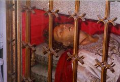 Preserved body of St. Silvan, circa 350 AD. Little is known of him except that he was martyred for his faith. His body is purported to be totally incorrupt and lies in the Church of St. Blaise at Dubrovnik, Croatia. On his neck the body has a big scar, which is believed to have caused his death.
