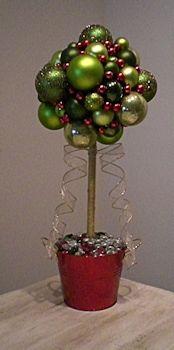 Christmas Table Decoration | Topiary Christmas Balls Tree