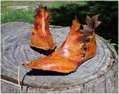 "Autumn leaf boots - cute for ""mother nature"" or ""woodland fairy"" costume"